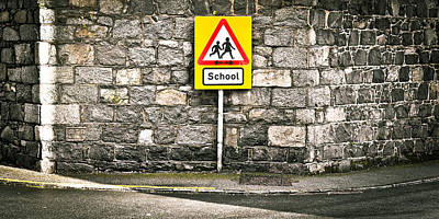 Kindergarten Photograph - School Sign by Tom Gowanlock