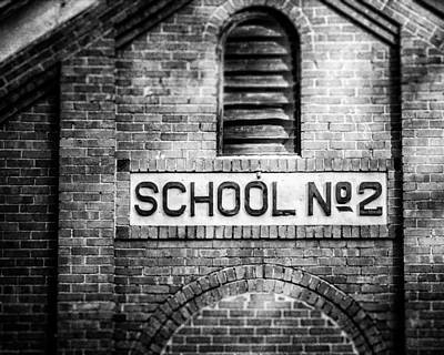 Brick Schools Photograph - Schoolhouse No. 2 In Black And White by Lisa Russo
