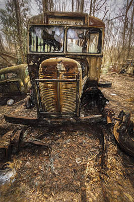 Scrap Metal Yard Photograph - School's Out by Erik Brede