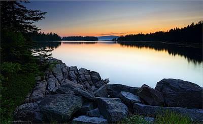 Sunset Photograph - Schooner Point Sunset by Daniel Behm