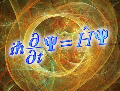 Schrodinger Wave Equation Print by Alfred Pasieka