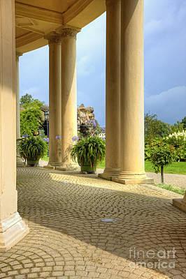 Landscape Photograph - Schwerin Castle Pillars. by Jan Brons