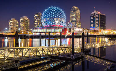 Science World In Vancouver Print by Alexis Birkill