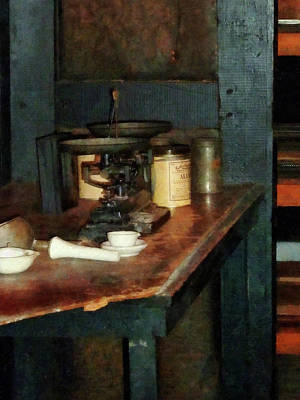 Labs Photograph - Scientist - Pan Balance And Alum by Susan Savad