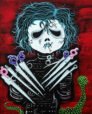 Film Painting - Scissorhands by Laura Barbosa