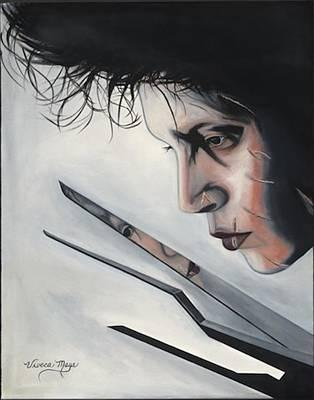 Edward Scissorhands Painting - Scissorhands by Viveca Mays