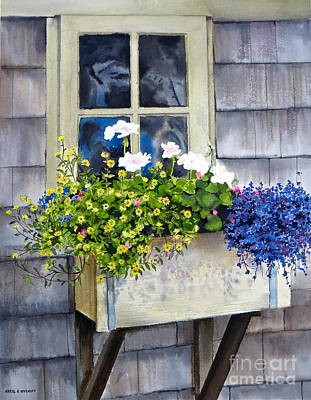 'sconset Window Box Print by Karol Wyckoff
