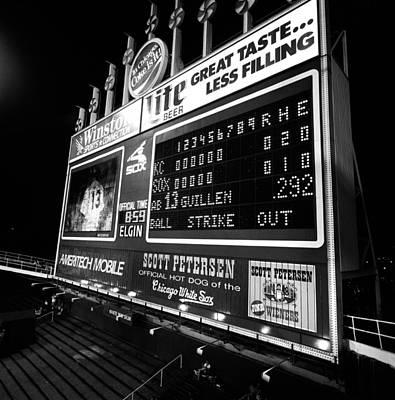 Scoreboard In A Baseball Stadium, U.s Print by Panoramic Images
