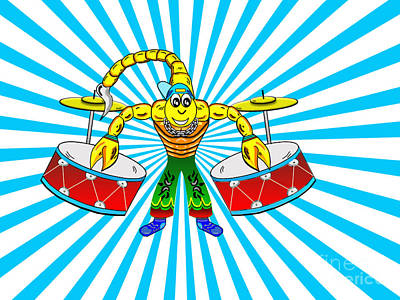 Scorpion Drummer Original by Goran Bozinovski