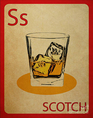 Scotch Vintage Flashcard Print by Mynameisjz JZ