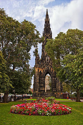 Trees Photograph - Scott Monument by Marcia Colelli