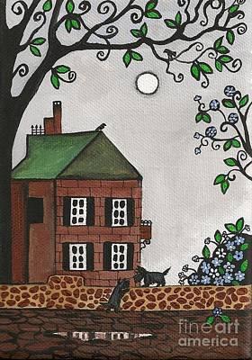 Scottish Dog Painting - Scotties On An Overcast Day by Margaryta Yermolayeva