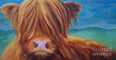 Clapping Painting - Scottish Cow by Samantha Black