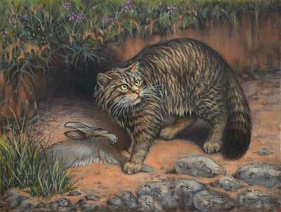 Kittens Painting - Scottish Wildcat - Last Of The Highland Tigers by Cynthia House