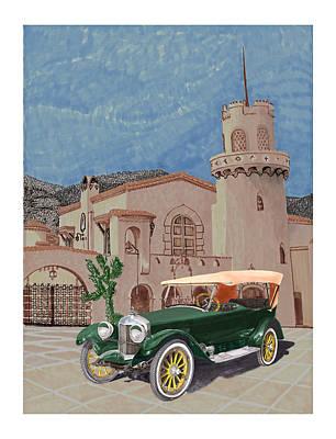 Scottys Castle 1917 Premier Tourer Print by Jack Pumphrey
