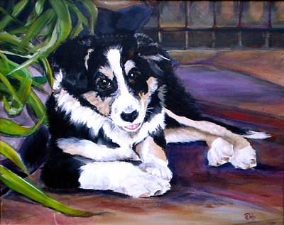 Pople Painting - Scout by Debi Starr