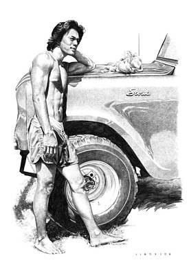 Truck Drawing - Scout by Douglas Simonson