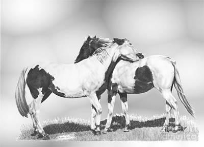 Custom Horse Portrait Drawing - Scratch by Marianne NANA Betts