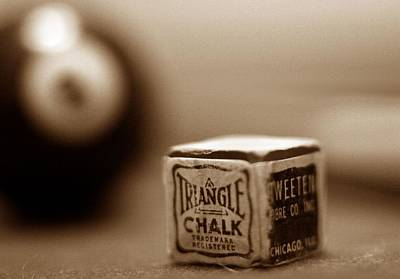 Sepia Chalk Photograph - Scratch Shot by Mark Schoenfelt