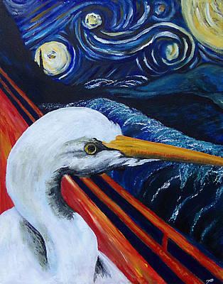 Night Angel Painting - Scream Faith Night by Tanya Hamell