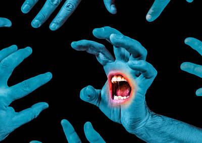 Screaming Hand Print by Ian Hufton