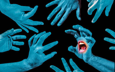 Screaming Hands Print by Ian Hufton