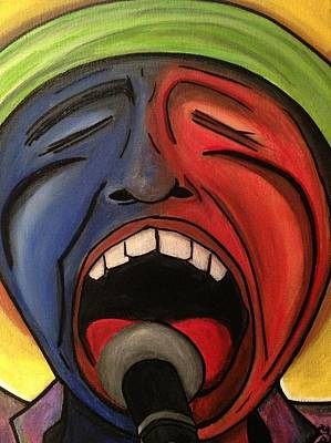 Screaming Singer Print by D August