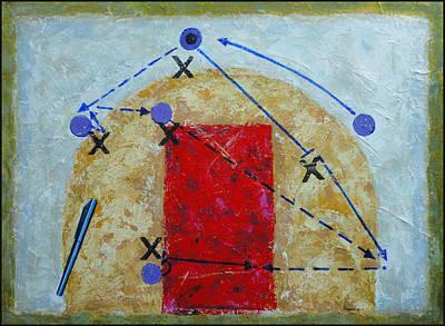 Basketball Abstract Mixed Media - Screen Away by John Sheppard