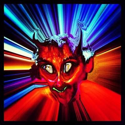 Surrealism Photograph - Screwtape - A Younger Novice Devil by Urbane Alien