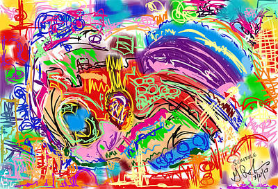 Painting - Scribble by Gerry Robins