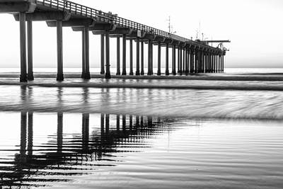 Seascape Photograph - Scripps Pier San Diego by Priya Ghose