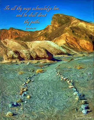 King James Bible Photograph - Scripture Art -- Proverbs 3-6 by Spirit Greetings