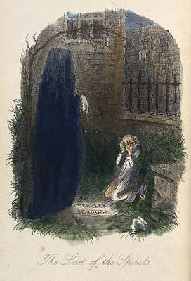 Scrooge Visited By The Last Ghost Print by British Library