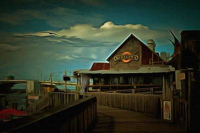 Local Restaurants Painting - Sculley's by L Wright