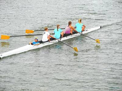 Sculling Team On Palm River  Print by Buzz  Coe