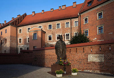 Krakow Photograph - Sculpture Of Pope John-paul II Father by Panoramic Images