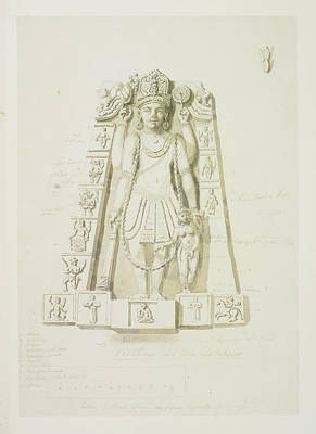 Lakshmi Photograph - Sculpture Of Vishnu And Lakshmi by British Library