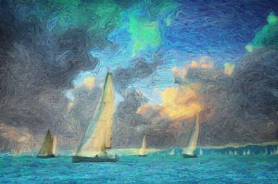 Yellow Painting - Scylla by Taylan Soyturk