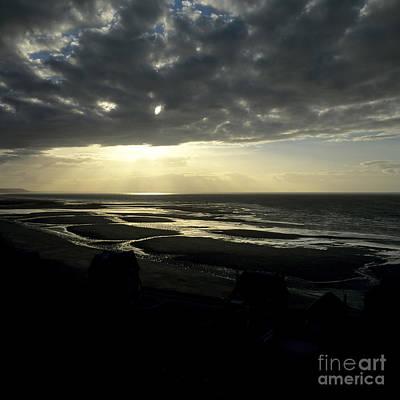Sea And Stormy Sky Print by Bernard Jaubert