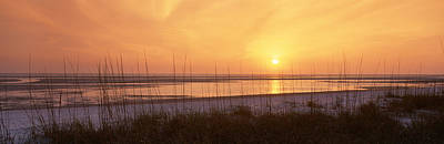 Collier Photograph - Sea At Dusk, Gulf Of Mexico, Tigertail by Panoramic Images