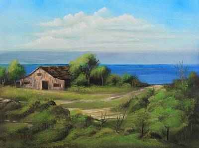 Old House Painting - Sea Breeze by Remegio Onia