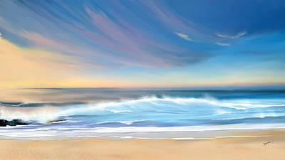 Seascape Digital Art - Sea Coast Escape by Anthony Fishburne