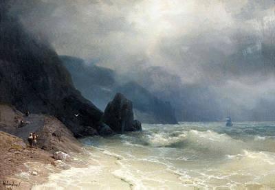 Aivazovsky Painting - Sea Coast by Ivan Konstantinovich Aivazovsky