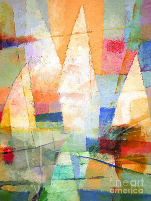 Abstract Seascape Mixed Media - Sea Colors by Lutz Baar