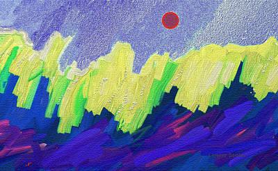 Abstract Movement Mixed Media - Sea Foam by Lenore Senior
