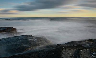Sea Foam Print by Lourry Legarde