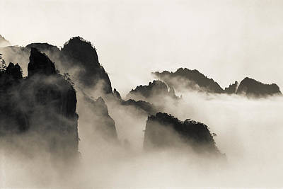 Sea Of Clouds Print by King Wu