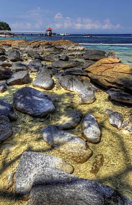 Sea Rocks Print by Mario Legaspi