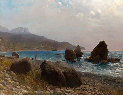 Lev Lagorio Painting - Sea Shore. Crimea by Lev Feliksovich Lagorio