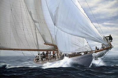 Sailboat Painting - Sea Thrill by Julia O'Malley-Keyes